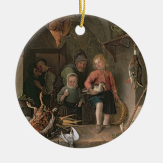 The Game Larder (panel) Round Ceramic Decoration