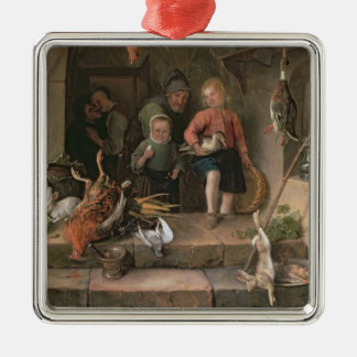 The Game Larder (panel) Silver-Colored Square Decoration