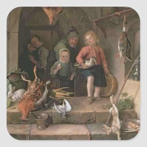The Game Larder (panel) Square Stickers