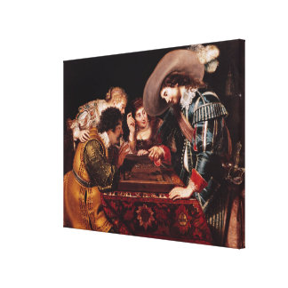 The Game of Backgammon Canvas Print