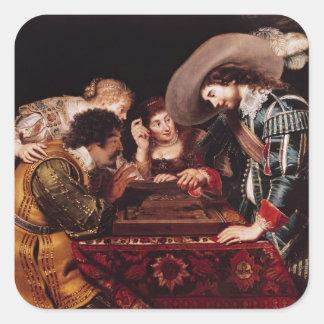 The Game of Backgammon Square Sticker