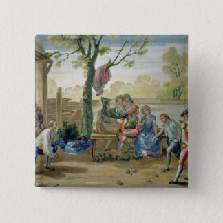 The Game of Bowls 15 Cm Square Badge