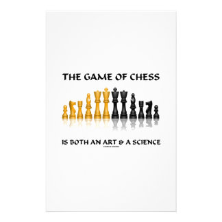 The Game Of Chess Is Both An Art & A Science Stationery Design