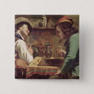 The Game of Draughts, 1844 15 Cm Square Badge