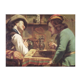 The Game of Draughts, 1844 Canvas Print