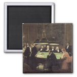 The Gaming Room at the Casino, 1889 Refrigerator Magnet
