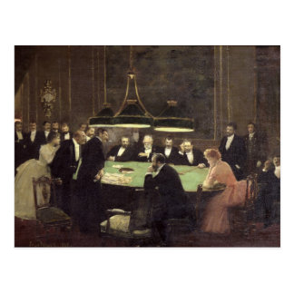 The Gaming Room at the Casino, 1889 Postcard