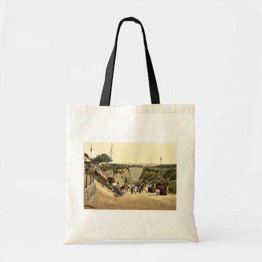 The Gap, Margate, England classic Photochrom Bags