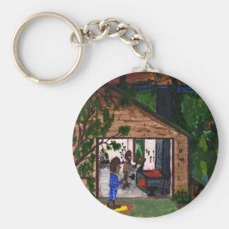 The Garage Basic Round Button Key Ring