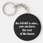 the GARAGE is mine..., Basic Round Button Key Ring