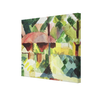 The Garden, 1914 (w/c on paper) Stretched Canvas Print