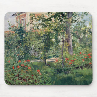 The Garden at Bellevue, 1880 Mouse Mat