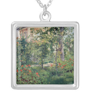 The Garden at Bellevue, 1880 Silver Plated Necklace