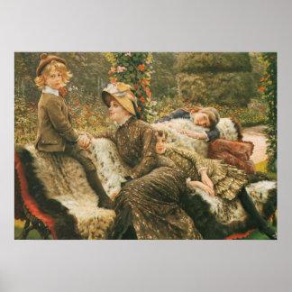 The Garden Bench James Tissot Fine Art Poster