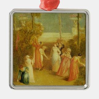 The Garden, c.1820 (oil on panel) Christmas Ornament