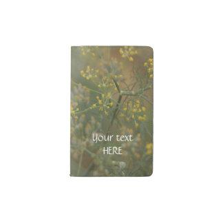 The garden Dill flower Pocket Moleskine Notebook