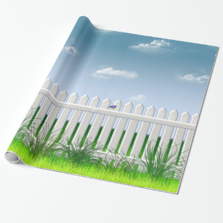 The Garden Fence Wrapping Paper