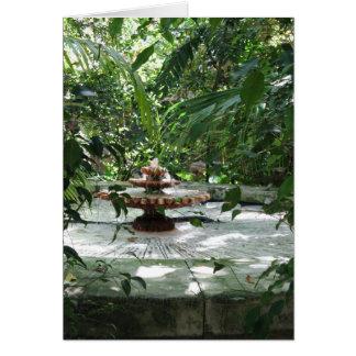 The Garden Fountain Card