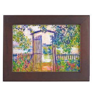 The Garden Gate at Vetheuil Claude Monet painting Keepsake Box