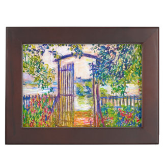 The Garden Gate at Vetheuil Claude Monet painting Memory Boxes