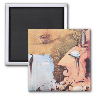 The Garden of Delights Square Magnet