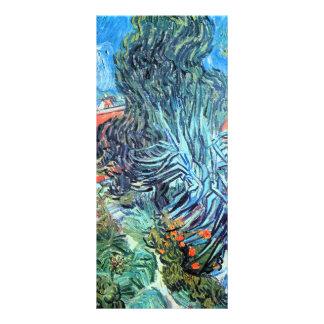 The garden of Dr. Gachet by Vincent van Gogh Rack Card Template