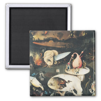 The Garden of Earthly Delights 2 Square Magnet