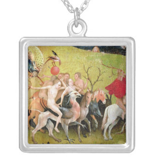 The Garden of Earthly Delights: Allegory of Silver Plated Necklace