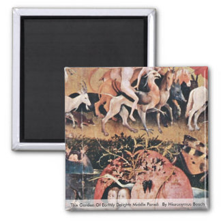 The Garden Of Earthly Delights: By Hieronymus Refrigerator Magnet