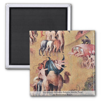 The Garden Of Earthly Delights: By Hieronymus Square Magnet
