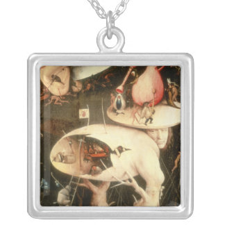 The Garden of Earthly Delights: Hell Silver Plated Necklace