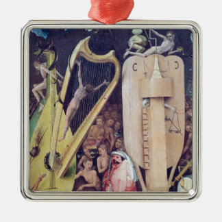 The Garden of Earthly Delights Silver-Colored Square Decoration
