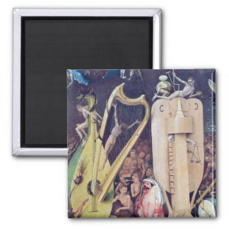The Garden of Earthly Delights Square Magnet