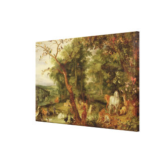 The Garden of Eden; in the background The Temptati Gallery Wrap Canvas