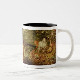 The Garden of Eden; in the background The Temptati Two-Tone Mug