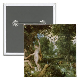 The Garden of Eden with the Fall of Man, c.1615 15 Cm Square Badge