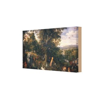The Garden of Eden with the Fall of Man Canvas Print