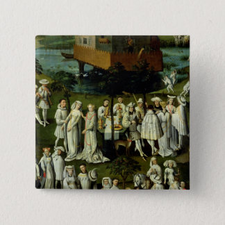 The Garden of Love at the Court of Philip the 15 Cm Square Badge