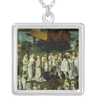 The Garden of Love at the Court of Philip the Silver Plated Necklace