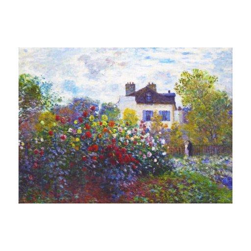 The Garden of Monet at Argenteuil Claude Monet Gallery Wrap Canvas