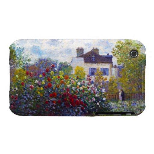 The Garden of Monet at Argenteuil Claude Monet Case-Mate iPhone 3 Case
