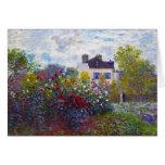 The Garden of Monet at Argenteuil Claude Monet Note Card