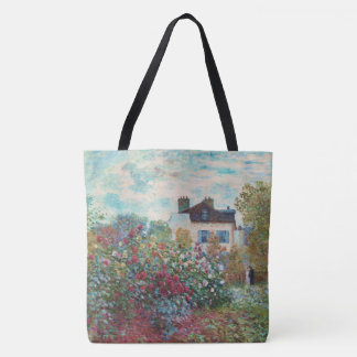 The Garden of Monet at Argenteuil Fine Art Tote Bag