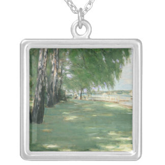 The Garden of the Artist in Wannsee, 1918 Silver Plated Necklace