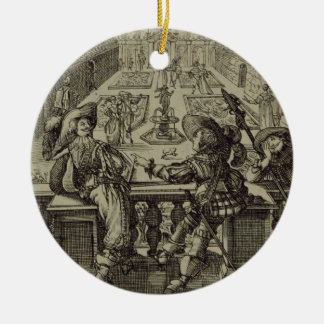 The garden of the French nobility, c.1640 (engravi Christmas Ornament