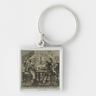 The garden of the French nobility, c.1640 (engravi Key Chains