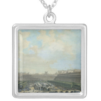 The Garden of the Palais Royal, 1791 Silver Plated Necklace