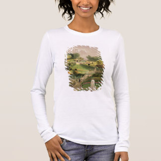 The Garden on the Hill Side, Castle Combe, from 'T Long Sleeve T-Shirt
