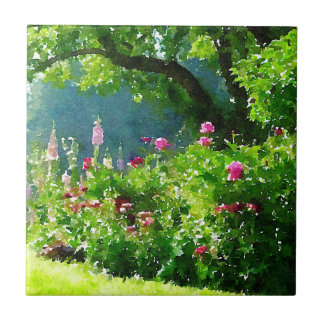 The Garden Small Square Tile
