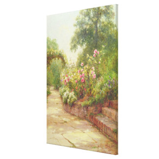 The Garden Steps Canvas Print
